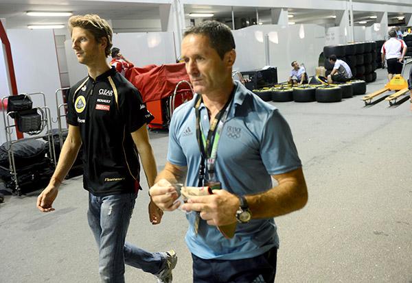 Benoit Campargue (Accompagnement de) Romain Grojean lors du Grand Prix F1 de Singapour 2012