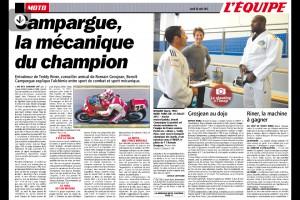 """L'Equipe """"Campargue, la mécanique du champion"""""""