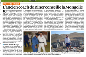 article Le Parisien le 27 Septembre 2013