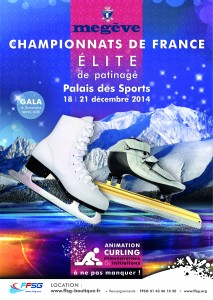 affiche France patinage 2014