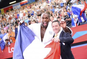 JUDO - JO 2012 - 2012 riner (teddy) - (fra) - campargue (benoit) - (fra) - *** Local Caption ***